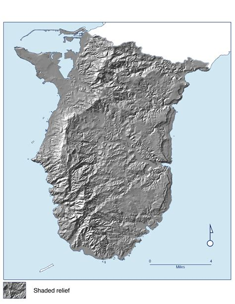 printable road map of guam large detailed relief map of southern guam southern guam
