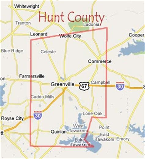 hunt county texas map images