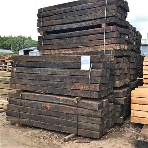 Reclaimed Hardwood Sleepers by Reclaimed Hardwood Railway Sleepers The Beechfield