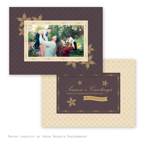 Festive Cards Templates by Festive Gold Card Template
