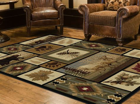 Nature Area Rugs Tayse Rugs Nature Northern Wildlife Lodge Area Rug 5 X 8 Home Home Decor Rugs Area