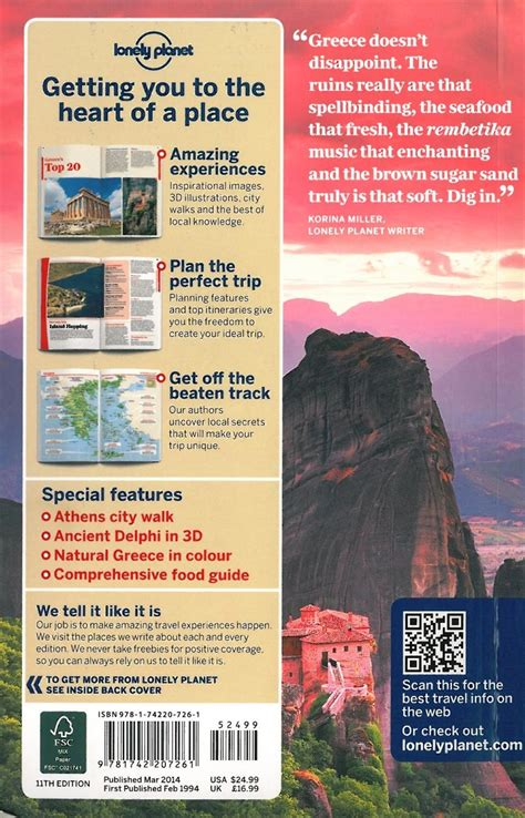 Lonely Planet Greece themapstore lonely planet greece europe travel guide