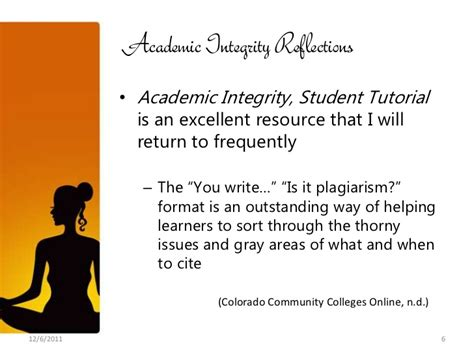 online tutorial on academic integrity inst 509 final reflections 12 08 11