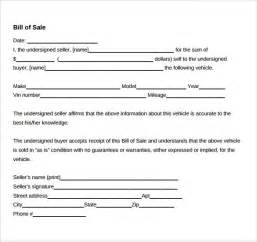 sample car bill of sale 5 documents in pdf word