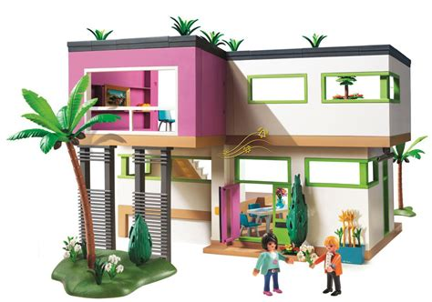 haus playmobil playmobil modern luxury mansion play set toys