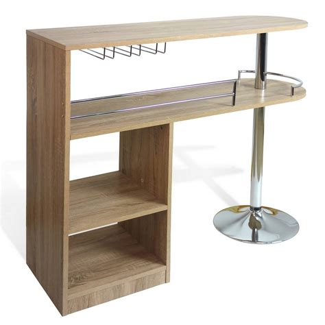 Oak Bar Table Homegear Deluxe Kitchen Bar Unit Table Oak Ebay