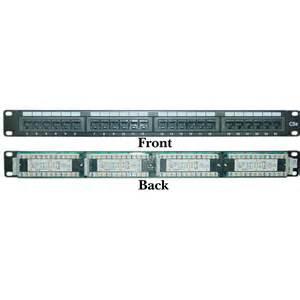 1u rackmount 24 port cat5e patch panel horizontal 110 type