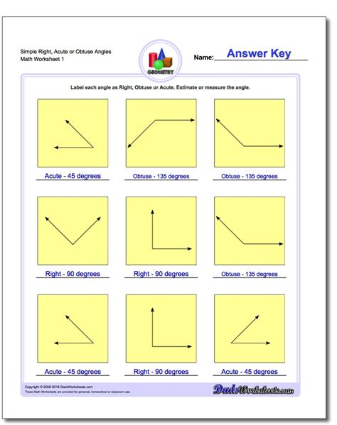 Beginning Geometry Worksheets Free by Basic Geometry
