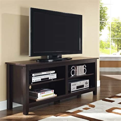Open Shelf Tv Stand by Walker Edison Open Shelf 60 Inch Tv Stand Espresso W58cspes