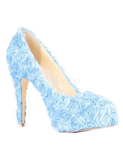 rose pattern heels gorgeous blue rose pattern stiletto heel satin woman s