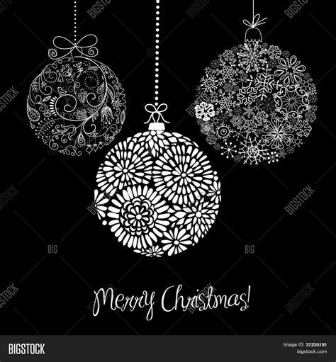 imagenes navideñas animadas blanco y negro vector y foto adornos de navidad de blanco y bigstock