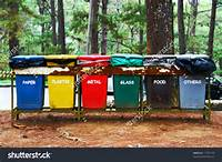 Color Coded Trash Bins For Waste Segregation Stock Photo 17195140