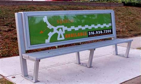 advertising bench led wall advertising