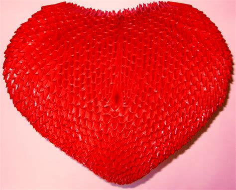3d Hearts Origami - 3d origami by floorin333 on deviantart