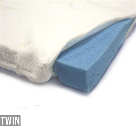 gel infused memory foam mattress topper bamboo cover