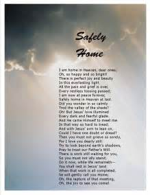 safely home poetry selections memory jar