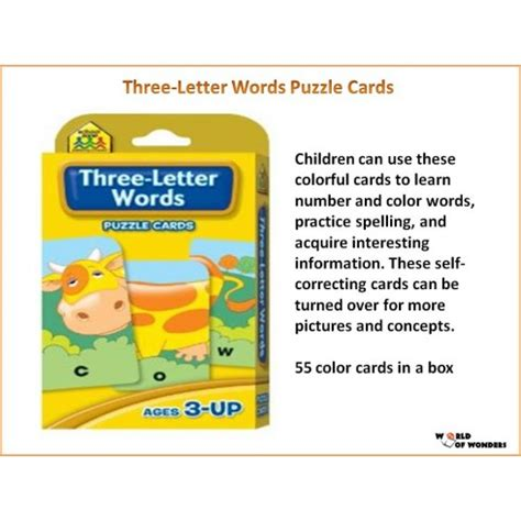 three letter words three letter words puzzle cards wooks 1672