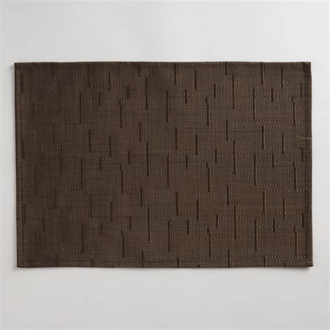 Woven Place Mats by Brown Woven Placemat Set Of 4 World Market