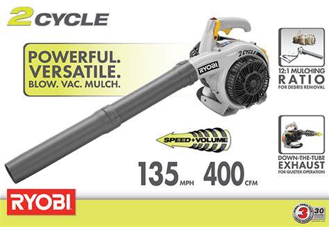 ryobi 150 mph 400 cfm 26cc gas leaf blower vacuum ry09056