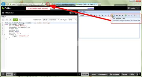 extjs design editor extjs 4 2 html editor tooltip issue in ie 9 stack overflow