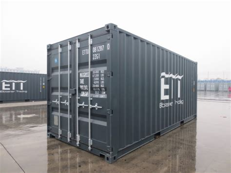 fuss container grau