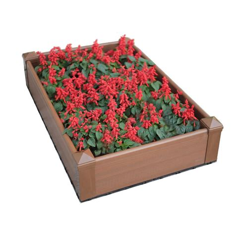 Plastic Raised Planter Boxes by Patio Raised Garden Bed Kit Plastic Outdoor Flower