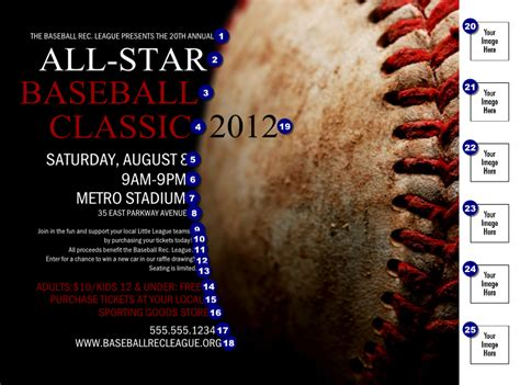 baseball fundraiser flyer template baseball stitches logo flyer ticketprinting