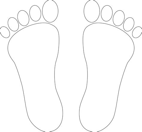 Foot Pictures Clip Art Cliparts Co Foot Coloring Pages