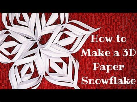 How To Make A 3d Out Of Paper - paper snowflakes 3d paper snowflakes and snowflakes on