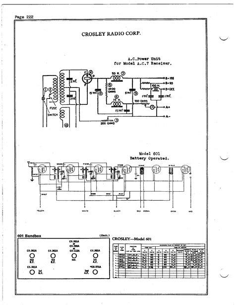 crosley corp  bandbox antique electronic supply