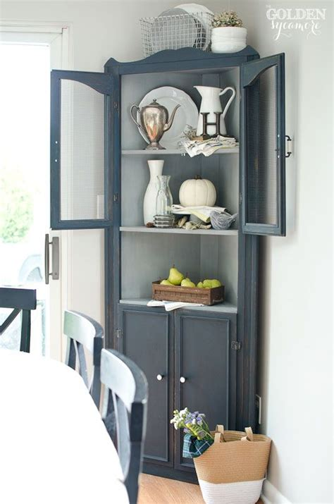 a hutch cabinet for the kitchen nook margarete miller friday favorites cupboard milk paint and corner