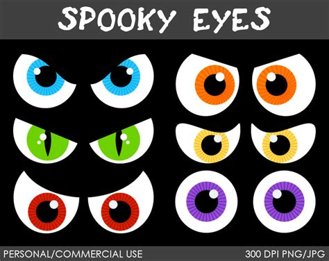 halloween eye chart printable spooky halloween eyes clip art 47