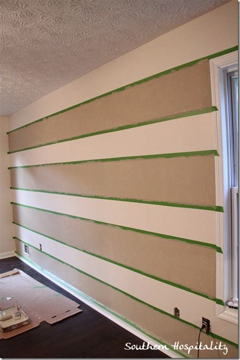striped wall gingham paint treatment using frogtape
