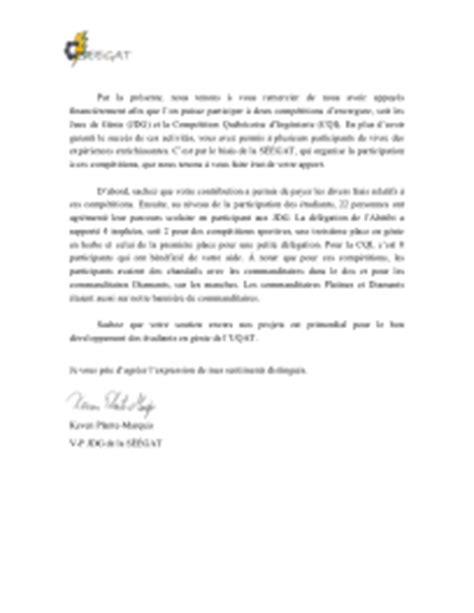 Exemple De Lettre De Remerciement Commandite Modele Lettre De Remerciement Commandite