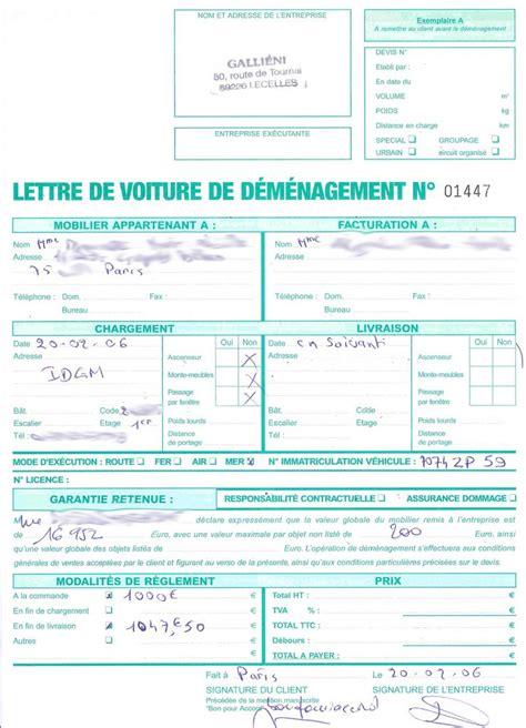 Modèle Lettre De Voiture Cmr F 233 Vrier 2006
