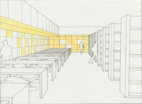 sketchbook library the new library interior sketch 3