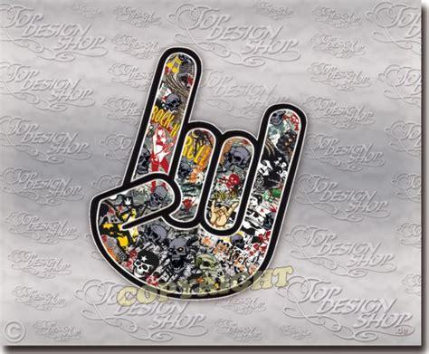 Autoscheiben Aufkleber Schweiz by Rock Sticker Heavy Metal Finger Auto Aufkleber