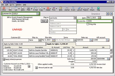 sle invoice editing sage 50 learning editing a transaction