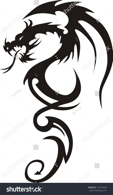 dragon tattoo vector illustration for vector illustration 122723446