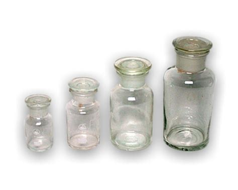 Botol Reagen Solvent Reagent Glass Bottles Wide Necked Transparent