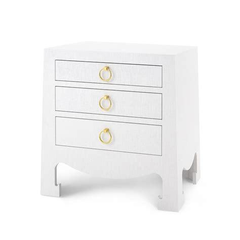 jacqui 3 drawer side table jacqui grasscloth 3 drawer side table white grasscloth