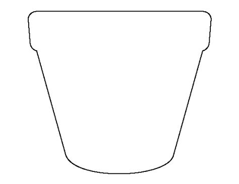 Pattern Of Flower Pot | flower pot pattern use the printable outline for crafts