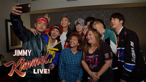 bts jimmy kimmel live watch bts surprises fans and their moms at quot jimmy kimmel