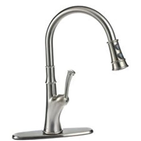 peerless pull down kitchen faucet peerless 174 pull down sprayer kitchen faucet brushed nickel canadian tire