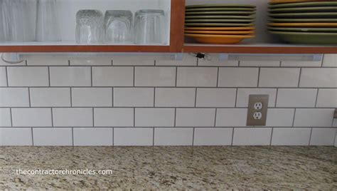 subway tiles backsplash white subway tile backsplash the contractor chronicles