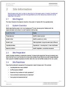 Software Deployment Document Template by Deployment Plan Template 28 Page Ms Word Sle