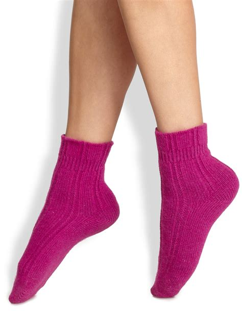 bed socks falke bed socks in purple magenta lyst