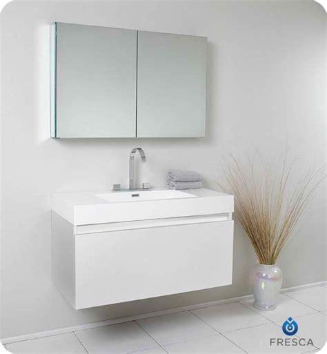 white bathroom medicine cabinet fresca mezzo white modern bathroom vanity w medicine cabinet