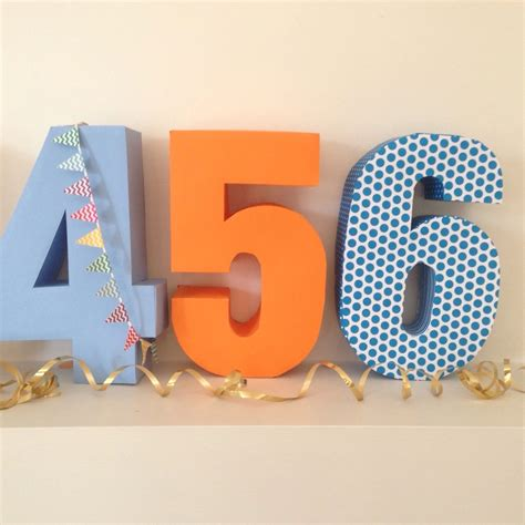 3d number templates birthday numbers complete set of downloadable diy pinanta