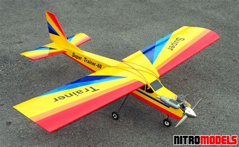 Rc Plane Trainer nitromodels arf trainer 60 yellow 70 quot led rc
